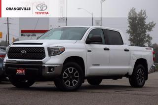 Used 2018 Toyota Tundra SR5 Plus 5.7L V8 SR5 PLUS, TRD OFF-ROAD, 4X4, HEATED SEATS, SUNROOF, NAVIGATION, RADAR CRUISE CONTROL, BLUETOOTH for sale in Orangeville, ON