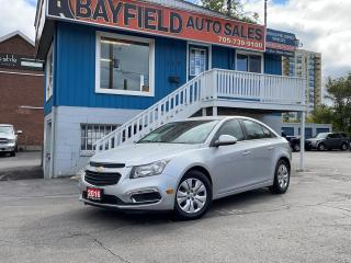 Used 2016 Chevrolet Cruze LT **Auto/Reverse Cam/Remote Start** for sale in Barrie, ON
