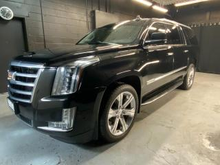 Used 2018 Cadillac Escalade ESV Premium Luxury Clean CarFax! Beautiful Black on Black with Chrome Wheels! Loaded! for sale in Kingston, ON