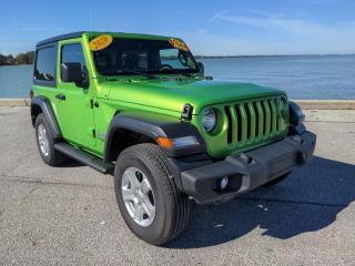 Used 2020 Jeep Wrangler Sport 2 Door 4x4 Heated Seats Bluetooth Rear Cam for sale in Belle River, ON