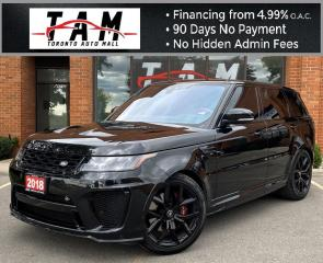 Used 2018 Land Rover Range Rover Sport SVR 575HP V8 NAVI Pano Sunroof 360Cam CLEAN CARFAX for sale in North York, ON