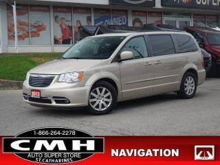 Used 2013 Chrysler Town & Country Touring  NAV CAM DVD ROOF HTD-S/W for sale in St. Catharines, ON