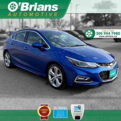 Used 2018 Chevrolet Cruze Premier w/Backup Camera, Leather, Heated Seats, Cruise Control for sale in Saskatoon, SK