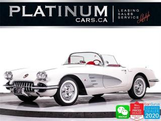 Used 1958 Chevrolet Corvette Convertible, 290HP, RED LEATHER SEATS, 19,000KMS for sale in Toronto, ON