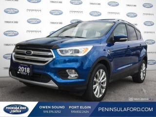 Used 2018 Ford Escape Titanium - Leather Seats -  Bluetooth - $182 B/W for sale in Port Elgin, ON