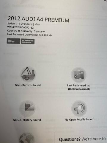 2012 Audi A4 2.0T PREMIUM Photo16