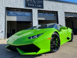 Used 2016 Lamborghini Huracan LP 610-4 Spyder/ Sport Exhaust/ Carbon Brakes for sale in Guelph, ON