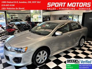 Used 2017 Mitsubishi Lancer ES+Camera+New Tires+Bluetooth+CLEAN CARFAX for sale in London, ON