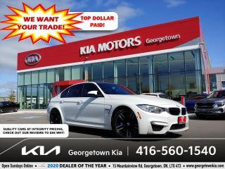 Used 2017 BMW M3 M3 | 1 OWNR | CLN CRFX | 425 HP | NAV | HUD | 36 K for sale in Georgetown, ON