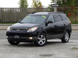 Used 2010 Hyundai Veracruz AWD,LEATHER,FULLY LOADED,CERTIFIED,7 SEATER,BACKUP SENSORS for sale in Mississauga, ON