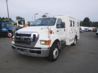 Used 2012 Ford F-650 Service Truck  Cab 2WD Dually Diesel Ex Police (former paddy wagon) for sale in Burnaby, BC
