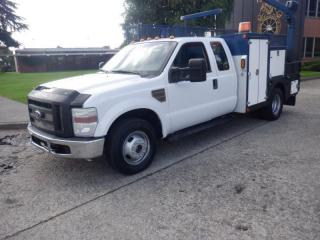 Used 2010 Ford F-350 SD SuperCab Service Body Dually 2WD Diesel with Crane for sale in Burnaby, BC