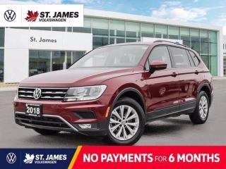 Used 2018 Volkswagen Tiguan Trendline, LOCAL ONE OWNER, BACKUP CAMERA, APPLE CARPLAY for sale in Winnipeg, MB