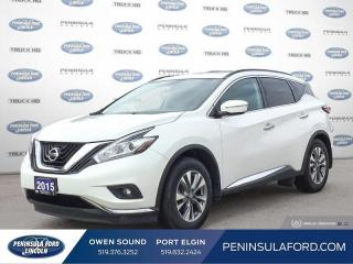 Used 2015 Nissan Murano SV - Sunroof -  Navigation - $169 B/W for sale in Port Elgin, ON