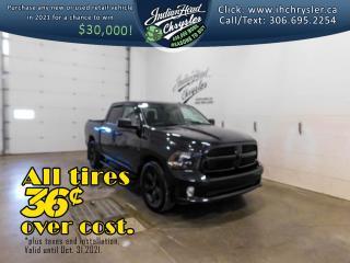 Used 2017 RAM 1500 Black Express   HEMI   Bluetooth for sale in Indian Head, SK