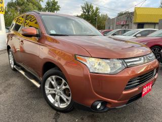 Used 2014 Mitsubishi Outlander GT/AWD/7PASS/NAVI/CAMERA/LEATHER/ROOF/LOADED/ALLOY for sale in Scarborough, ON
