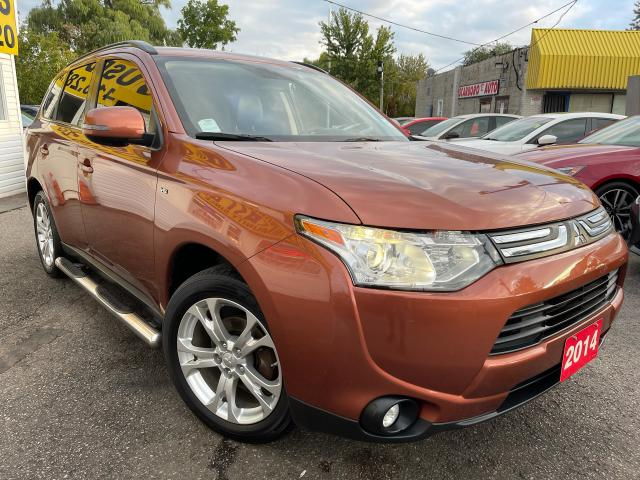 2014 Mitsubishi Outlander GT/AWD/7PASS/NAVI/CAMERA/LEATHER/ROOF/LOADED/ALLOY
