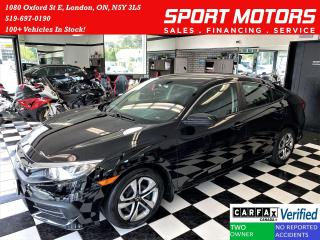 Used 2017 Honda Civic LX+ApplePlay+Camera+Heated Seats+CLEAN CARFAX for sale in London, ON