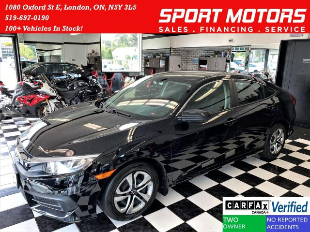 2017 Honda Civic LX+ApplePlay+Camera+Heated Seats+CLEAN CARFAX