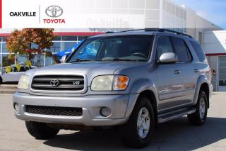 Used 2002 Toyota Sequoia SR5 V8 SR5 4WD 7-Passenger with Running Boards and Power Moonroof   SELF CERTIFY for sale in Oakville, ON