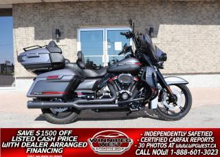 Used 2020 Harley-Davidson FLHTKSE CVO Ultra Limited Screamin Eagle 131 CU INCH M8 *STUNNING *LOTS OF $$ SPENT ON MODS for sale in Headingley, MB