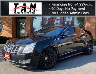 Used 2012 Cadillac CTS Performance Coupe Sunroof Leather Clean Carfax Service History for sale in North York, ON