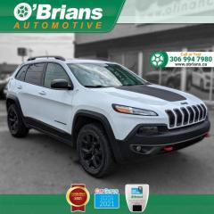 Used 2016 Jeep Cherokee Trailhawk w/4x4, Command Start, Backup Camera, Leather, Nav for sale in Saskatoon, SK