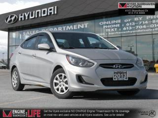 Used 2013 Hyundai Accent GL  - Bluetooth -  Heated Seats for sale in Nepean, ON