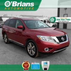 Used 2015 Nissan Pathfinder Platinum w/4WD, Command Start, Leather, Navigation, Heated Seats for sale in Saskatoon, SK