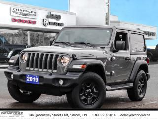 Used 2019 Jeep Wrangler SPORT   HARD TOP   A/C    AUTOMATIC for sale in Simcoe, ON