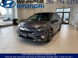 Used 2019 Honda Odyssey TOURING - Blind spot system, Rear cross traffic alerts, Heated&Ventilated front seats, Wireless Charging for sale in Winnipeg, MB