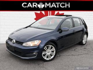 Used 2015 Volkswagen Golf COMFORTLINE / NO ACCIDENTS / AUTO / ROOF for sale in Cambridge, ON