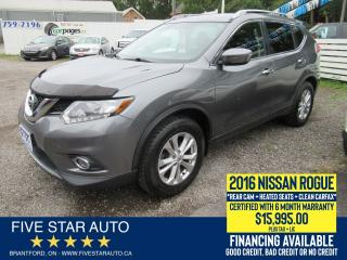 Used 2016 Nissan Rogue SV *Clean Carfax* Certified w/ 6 Month Warranty for sale in Brantford, ON