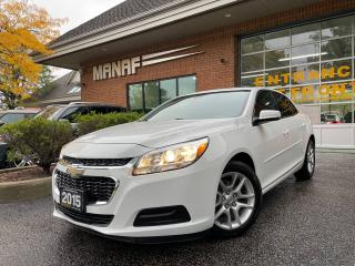 Used 2015 Chevrolet Malibu W/1LT Sunroof Rear Cam Remote Starter Certified* for sale in Concord, ON