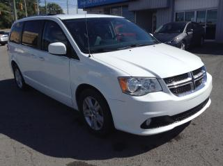 Used 2019 Dodge Grand Caravan Crew LEATHER, NAV, PWR DOORS, HATCH, LOADED!! for sale in North Bay, ON