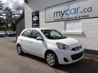 Used 2017 Nissan Micra A/C. POWER GROUP BLUETOOTH. WOW !! AWESOME BUY ! for sale in North Bay, ON