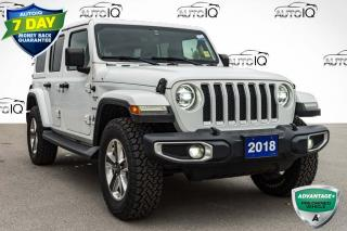 Used 2018 Jeep Wrangler Unlimited Sahara LED LIGHTING | NAV AND SOUND GROUP | HEATED LEATHER for sale in Innisfil, ON