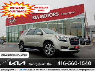 Used 2014 GMC Acadia SLT | 8 PASS | LTHR | NAV| BU CAM | HTD SEATS | BT for sale in Georgetown, ON