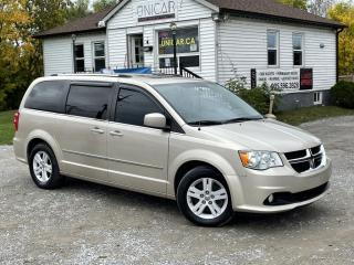 Used 2013 Dodge Grand Caravan No-Accidents Crew Plus Leather Sunroof Navi Backup Cam StowN for sale in Sutton, ON