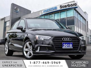 Used 2018 Audi A3 2.0 TFSI Komfort 1 OWNER CLEAN CARFAX for sale in Scarborough, ON