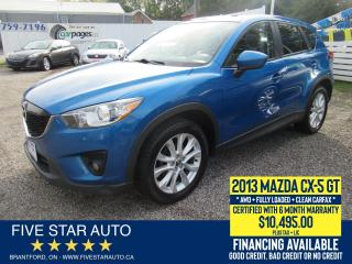Used 2013 Mazda CX-5 GT AWD *Clean Carfax* Certified + 6 Month Warranty for sale in Brantford, ON