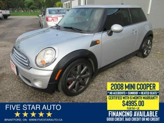 Used 2008 MINI Cooper Classic *No Accidents* Certified w/ 6 Mth Warranty for sale in Brantford, ON