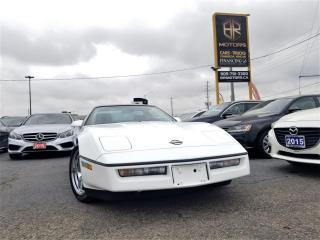 Used 1989 Chevrolet Corvette Rare Extremely clean|RED interior|Certified for sale in Brampton, ON