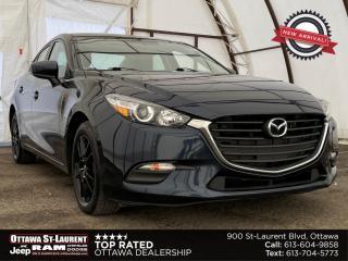 Used 2017 Mazda MAZDA3 GX BLACK SPORT ALUMINUM WHEELS, REVERSE CAMERA, PUSH START IGNITION for sale in Ottawa, ON