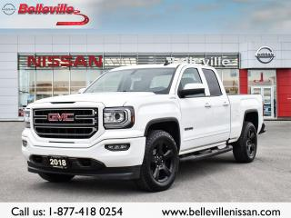 Used 2018 GMC Sierra 1500 ELEVATION 1 OWNER LOCAL TRADE CLEAN CARPROOF for sale in Belleville, ON