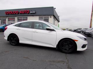 Used 2017 Honda Civic LX Sedan Auto Camera Bluetooth No Accident Certified for sale in Milton, ON