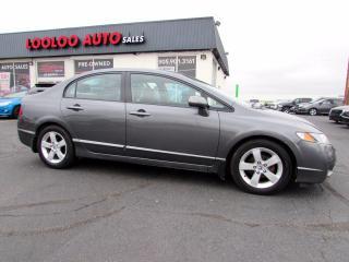 Used 2010 Honda Civic LX-S Sedan Automatic Alloys Sunroof Certified for sale in Milton, ON