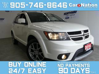 Used 2016 Dodge Journey R/T RALLYE |AWD | DVD |LEATHER |ROOF |NAV |1 OWNER for sale in Brantford, ON