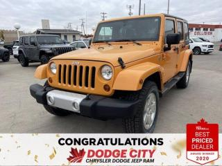 Used 2012 Jeep Wrangler Unlimited Sahara-4WD, Accident Free, Nav, Remote Start for sale in Saskatoon, SK