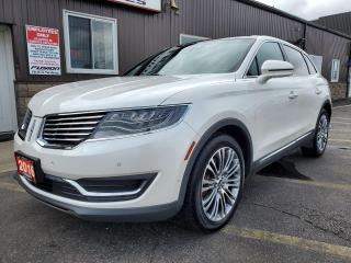 Used 2016 Lincoln MKX Reserve-MESSAGING SEATS-NAV-PAN ROOF-REVEL SOUND for sale in Tilbury, ON